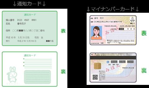 通知カード マイナンバーカード